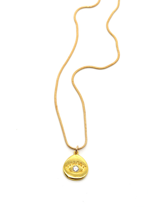 Evil Eye Gold Pendant — Necklace