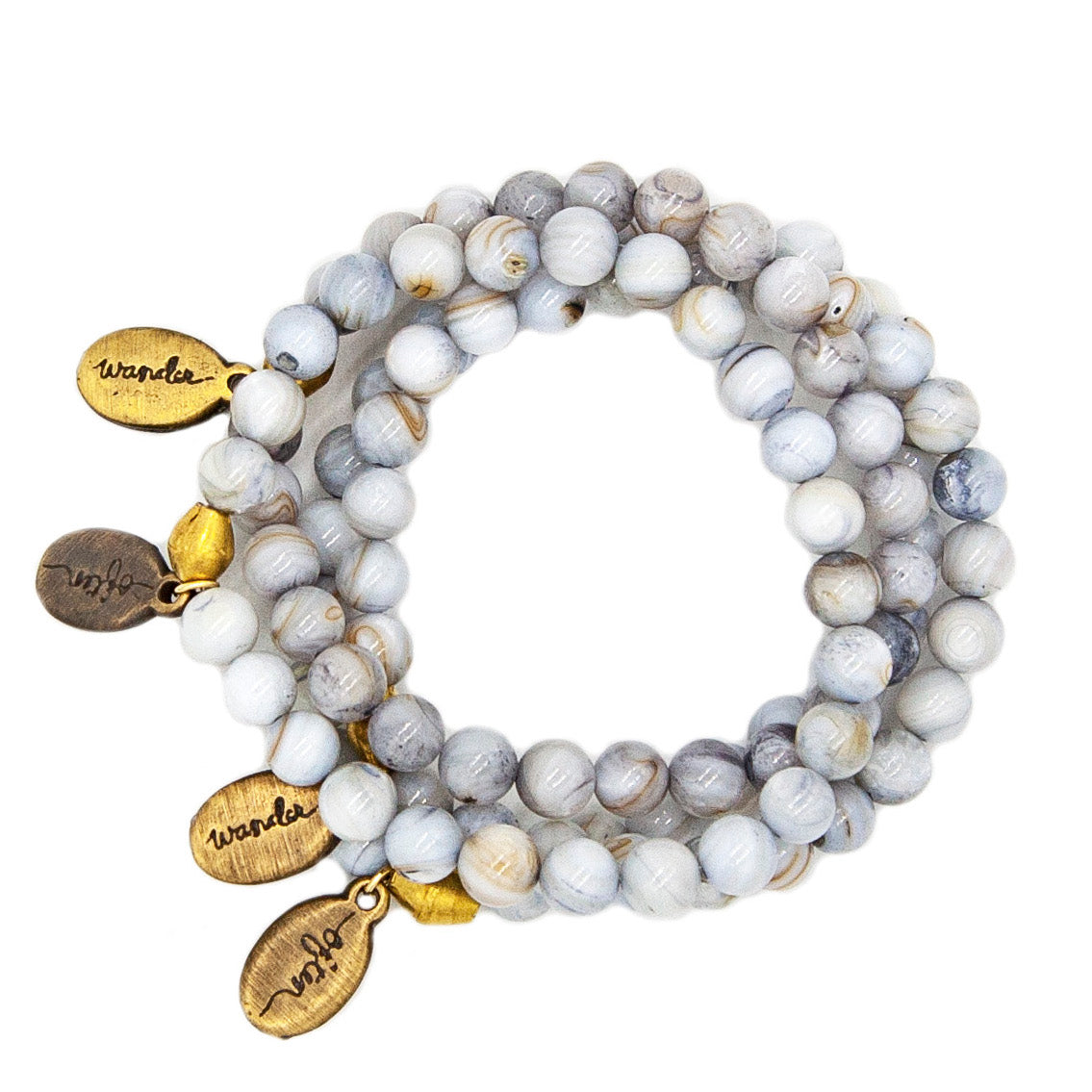 Beaded Bracelet - Gray Shell