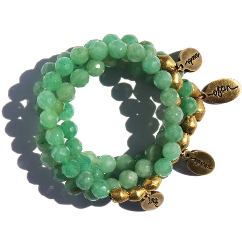 Green Aventurine — Beaded Bracelet