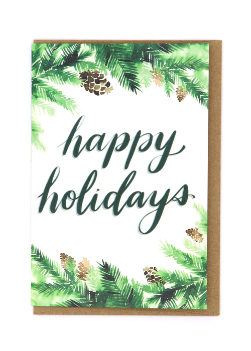 Happy Holidays — Note Card — Rebecca Eichten