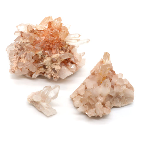 Tourmalated Quartz — Raw Clusters — Crystal