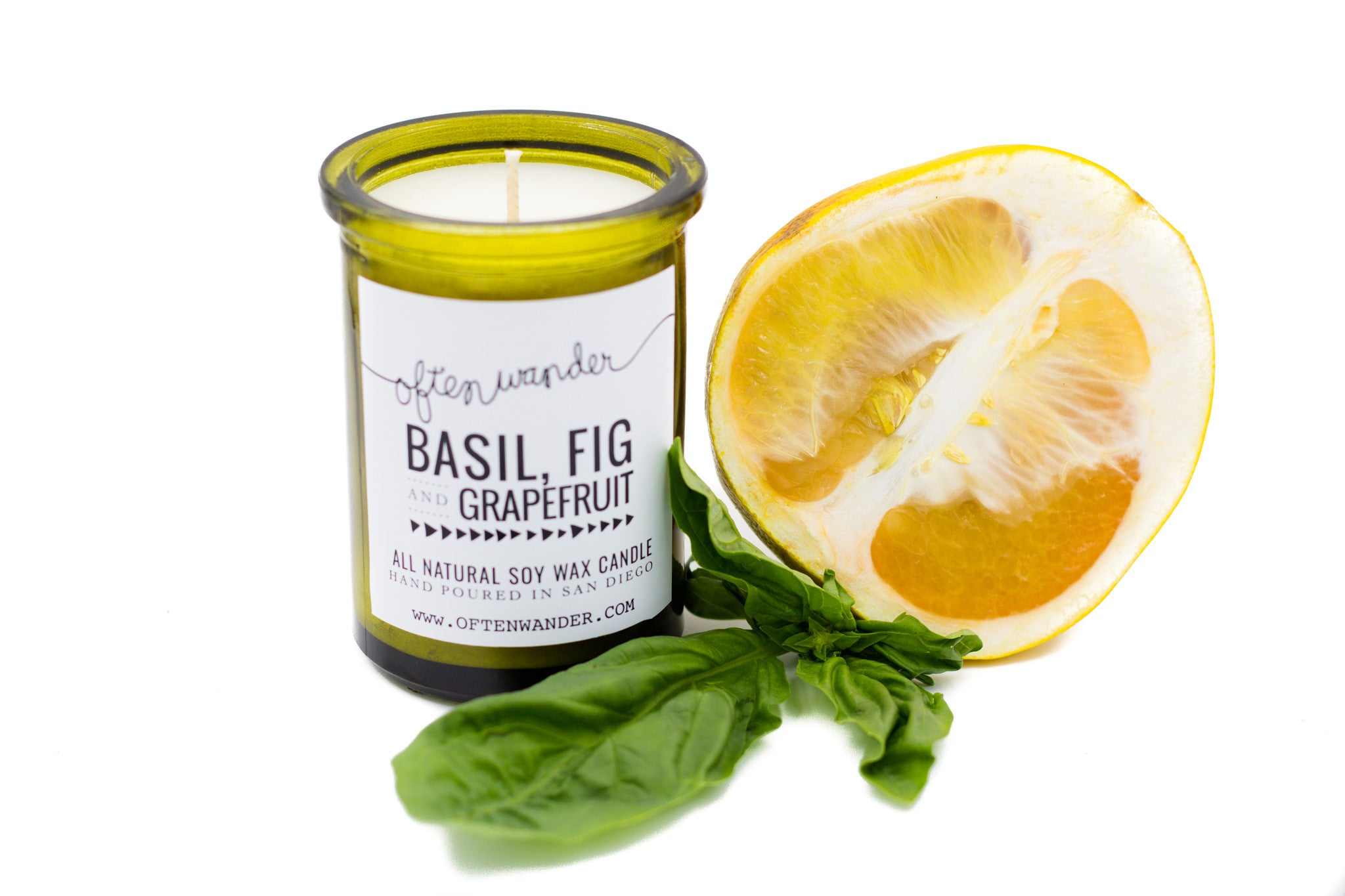 Apothec Candle - Basil Fig and Grapefruit