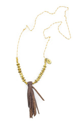 Necklace - Leather Tassel