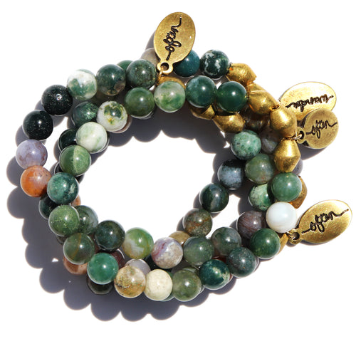Indian Agate — Beaded Bracelet