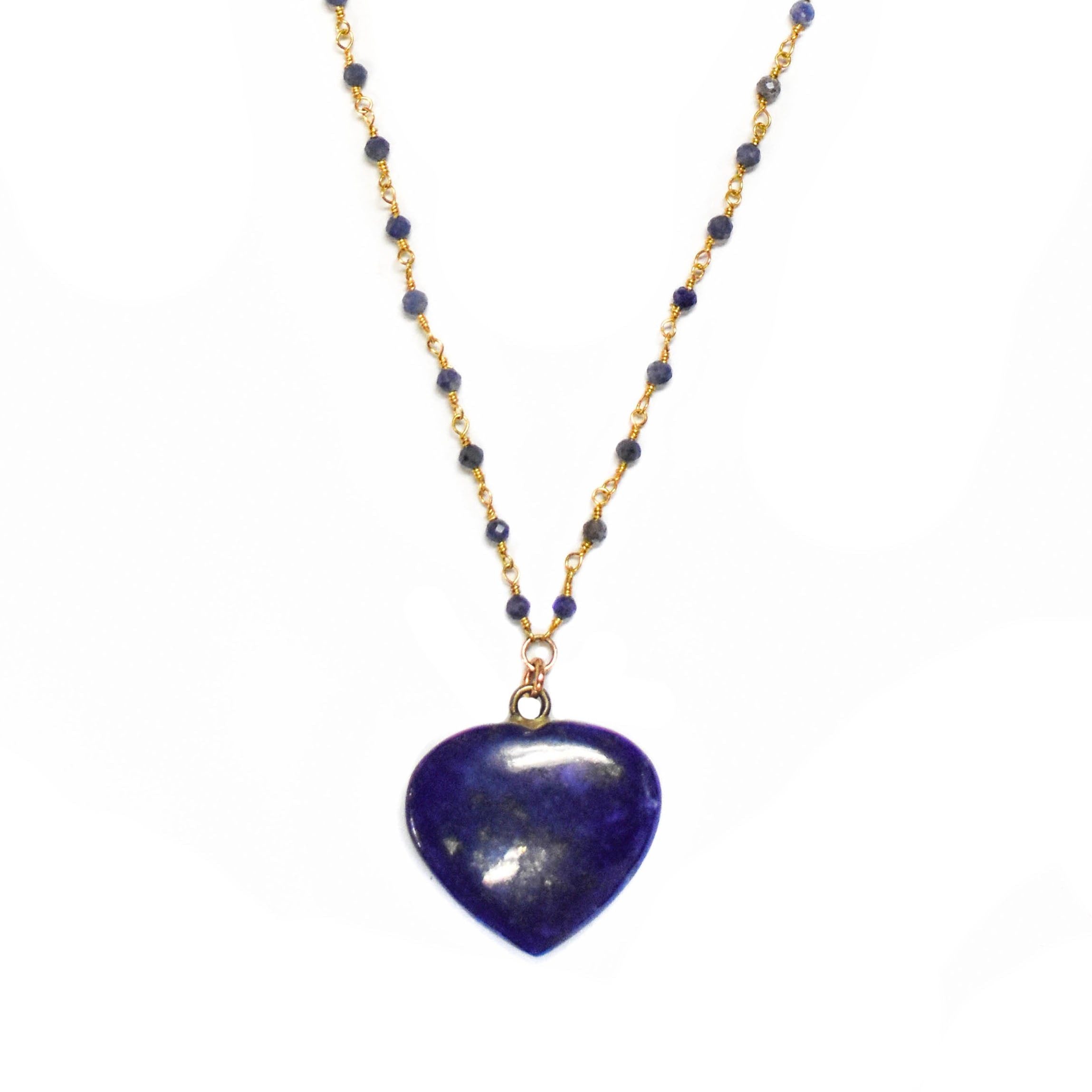 *NEW* Lapis Heart Necklace