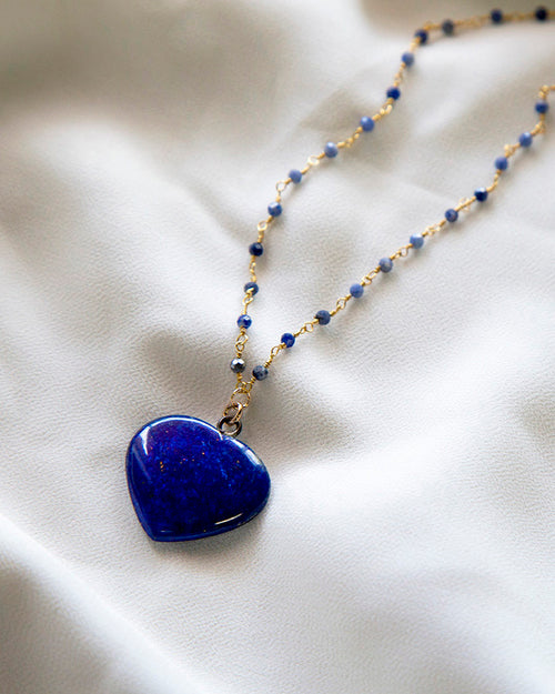 Lapis Heart — Necklace