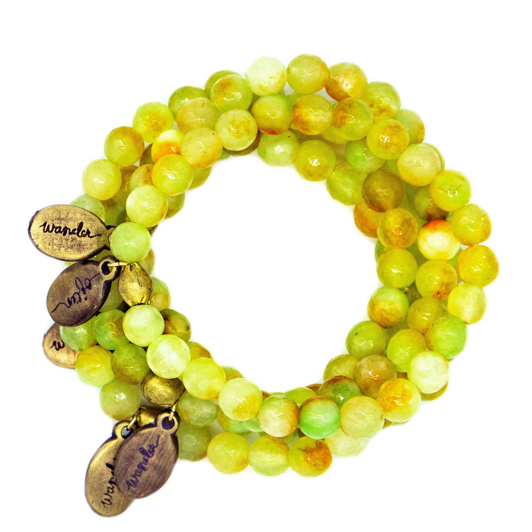 Beaded Bracelet  - Lemon Lime Agate
