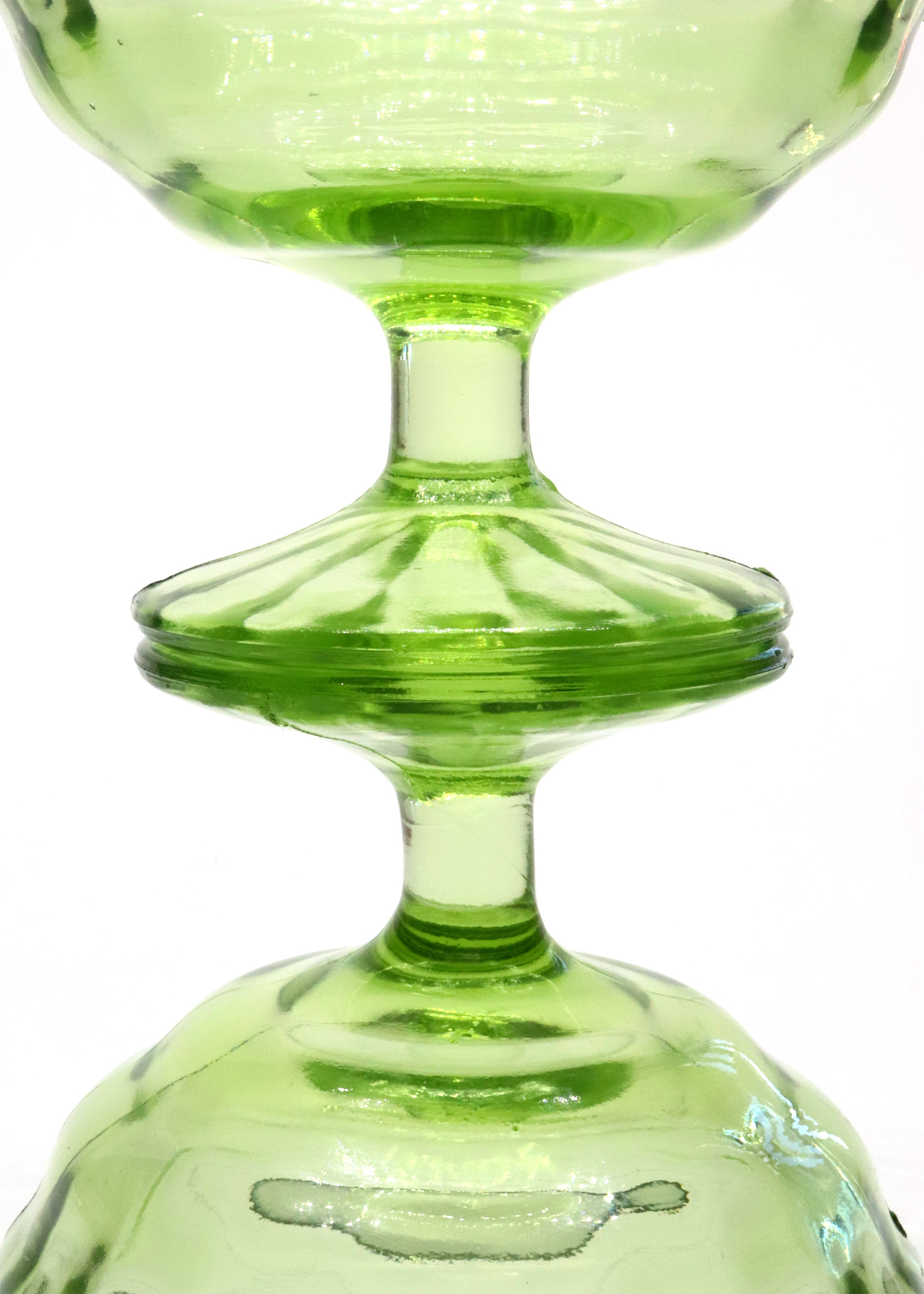 Lime Pedestal Sherbet Dishes — Vintage Glass — Set of 2
