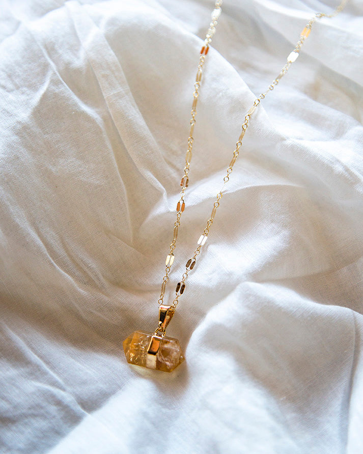 Necklace - Love Nugget (Citrine)