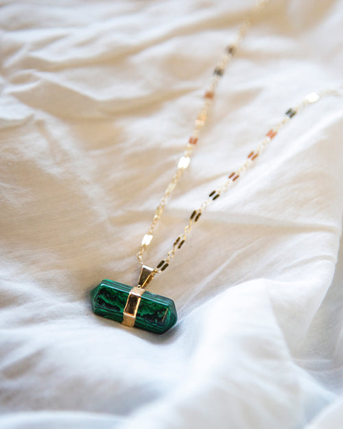 Malachite — Love Nugget — Necklace