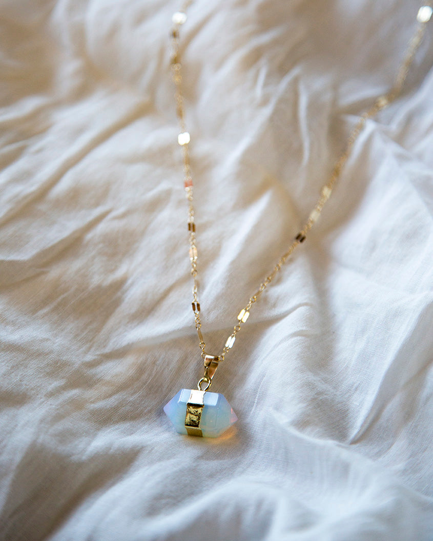 Necklace - Love Nugget (Opalite)