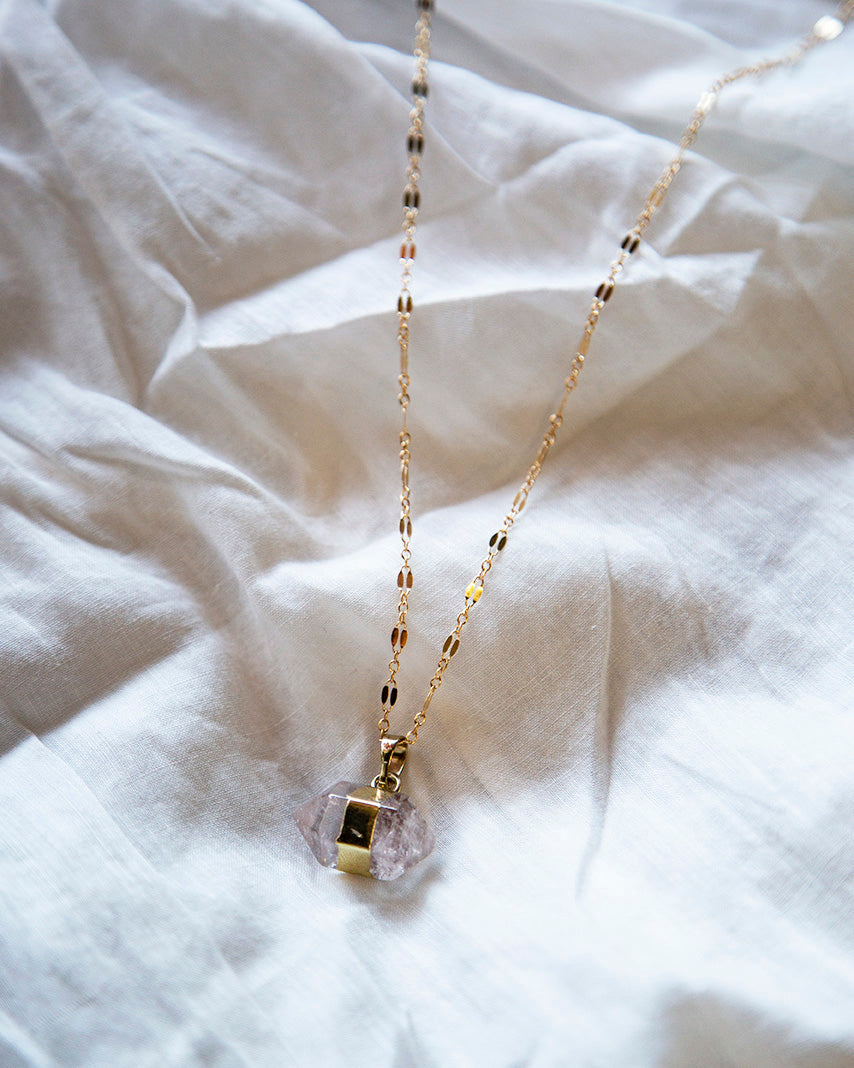 Necklace - Love Nugget (Clear Quartz)