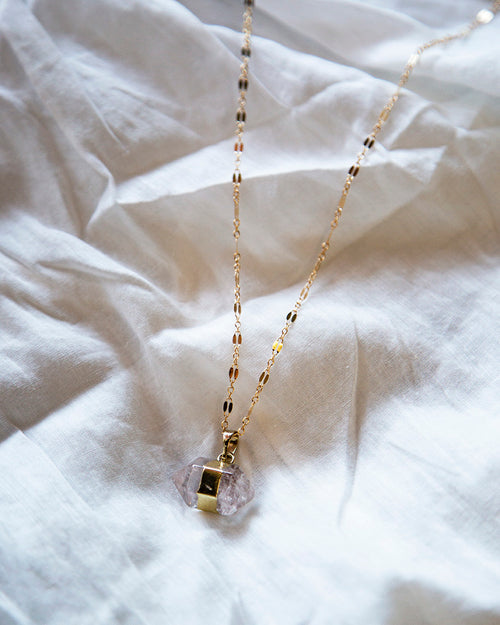Clear Quartz — Love Nugget — Necklace