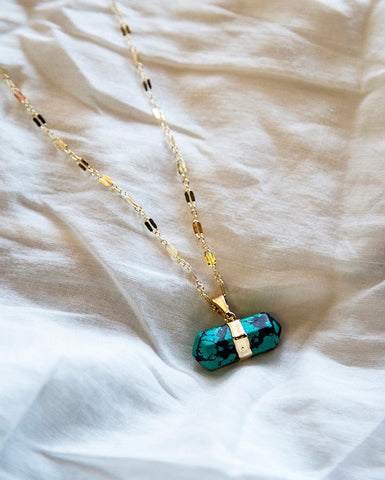 Necklace — Heart Work — Turquoise