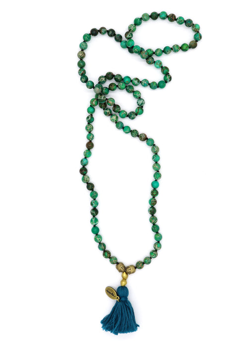 Terra Jasper — Mala Necklace
