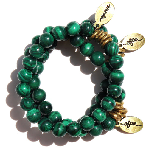 New! Malachite — Beaded Bracelet