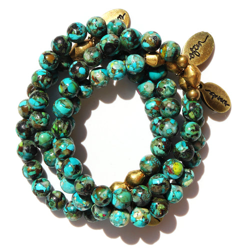 Sale! Mosaic Coral — Beaded Bracelet