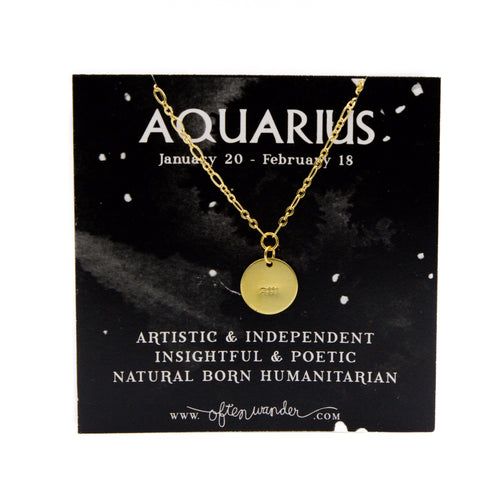Astrological Necklace - Aquarius [JAN 20 - FEB 18]