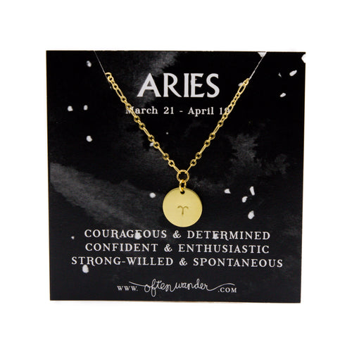 Aries [MARCH 21 - APRIL 19] — Astrological Necklace