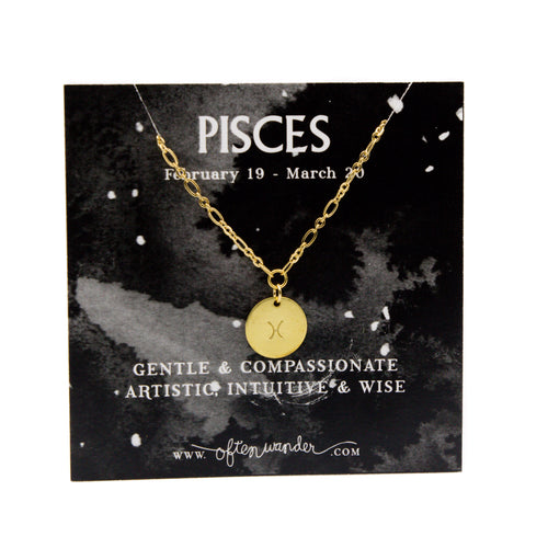 Astrological Necklace - Pisces [FEB 19 - MARCH 20]