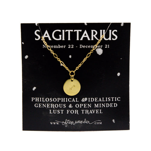 Astrological Necklace — Sagittarius [NOV 22 - DEC 21]