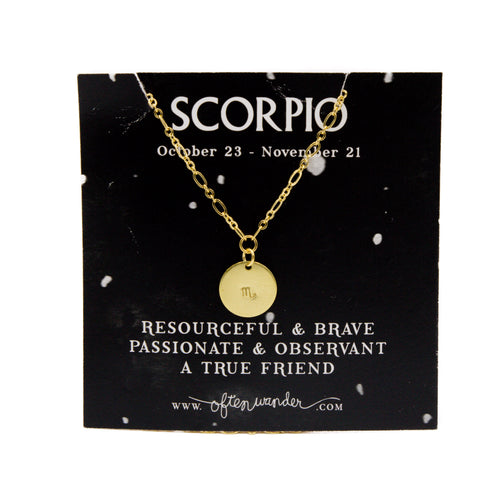 Astrological Necklace — Scorpio [OCT 23 - NOV 21]