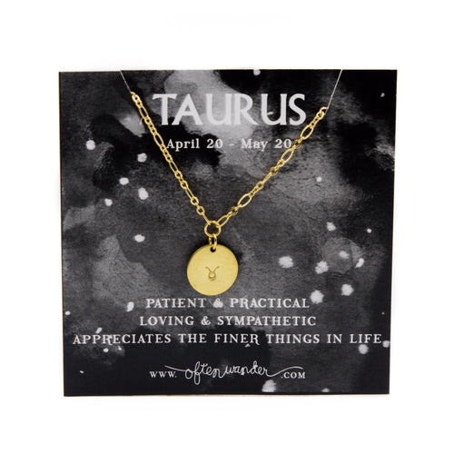 Astrological Necklace — Taurus [APRIL 20 - MAY 20]