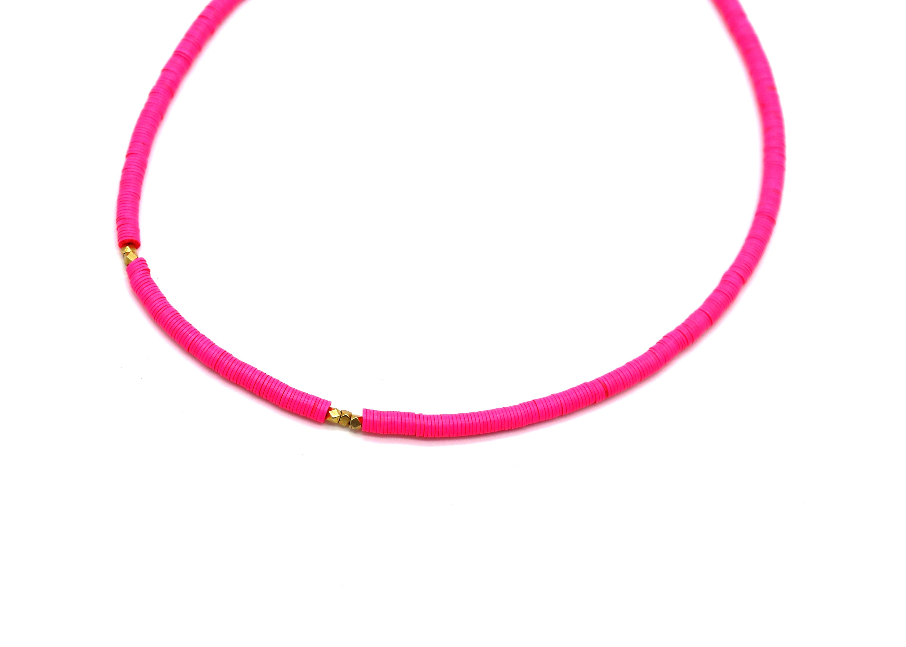Neon Vinyl Choker — Pink — Necklace