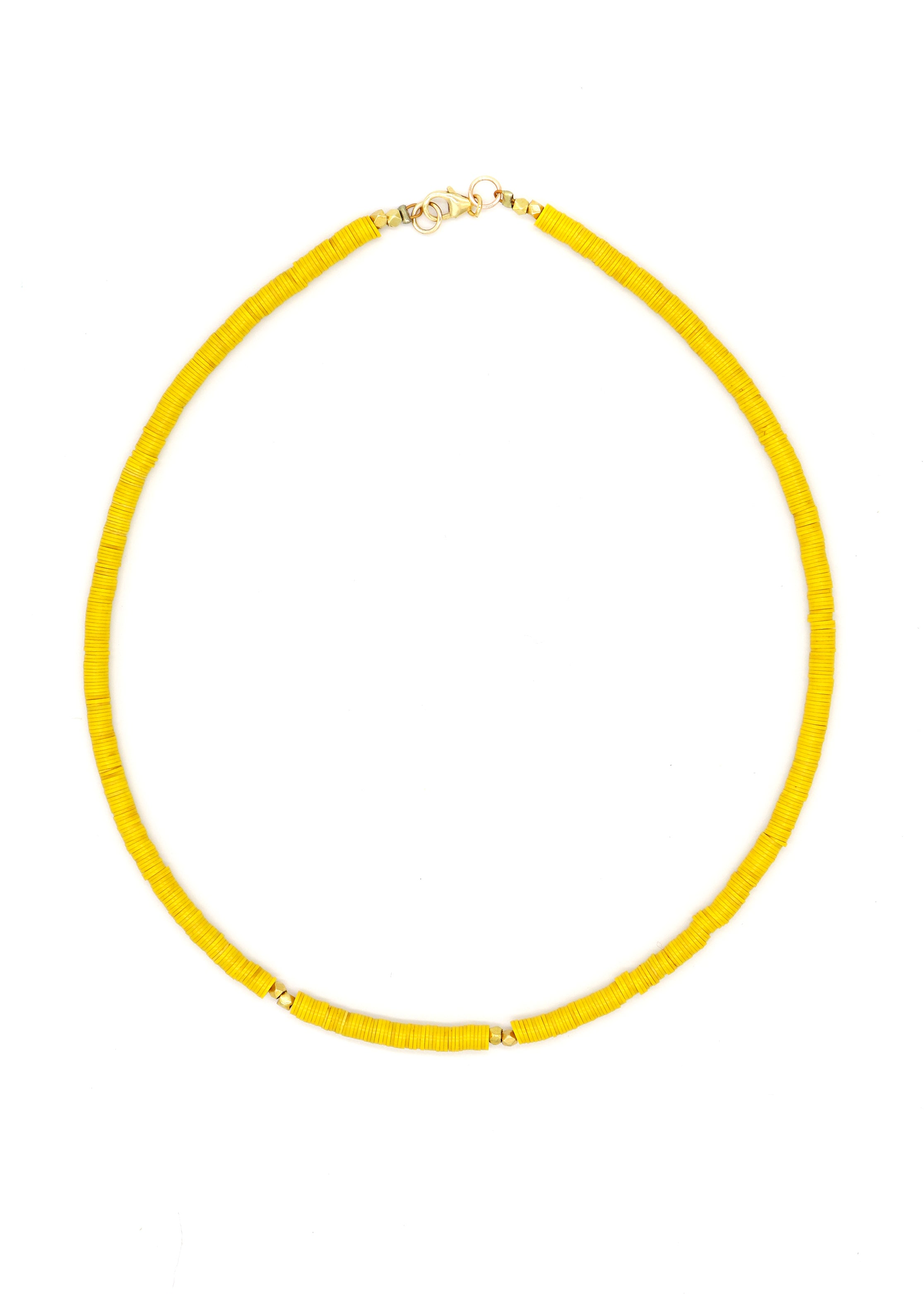 Neon Vinyl Choker — Yellow — Necklace