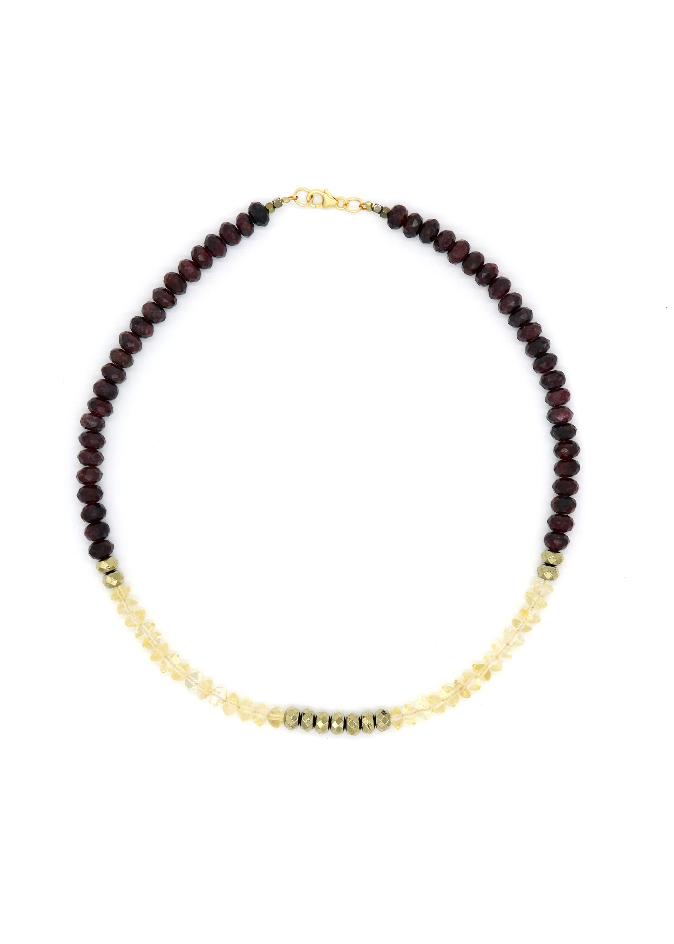 NEW! Limited — Citrine and Garnet Necklace