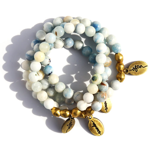 Pale Blue Jade — Beaded Bracelet