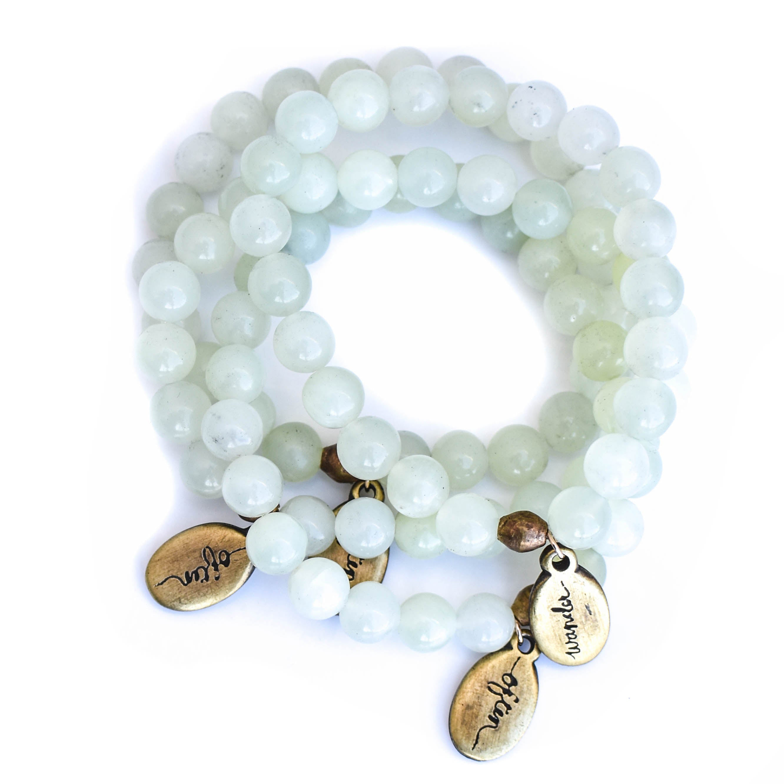 Beaded Bracelet  - Pale Jade