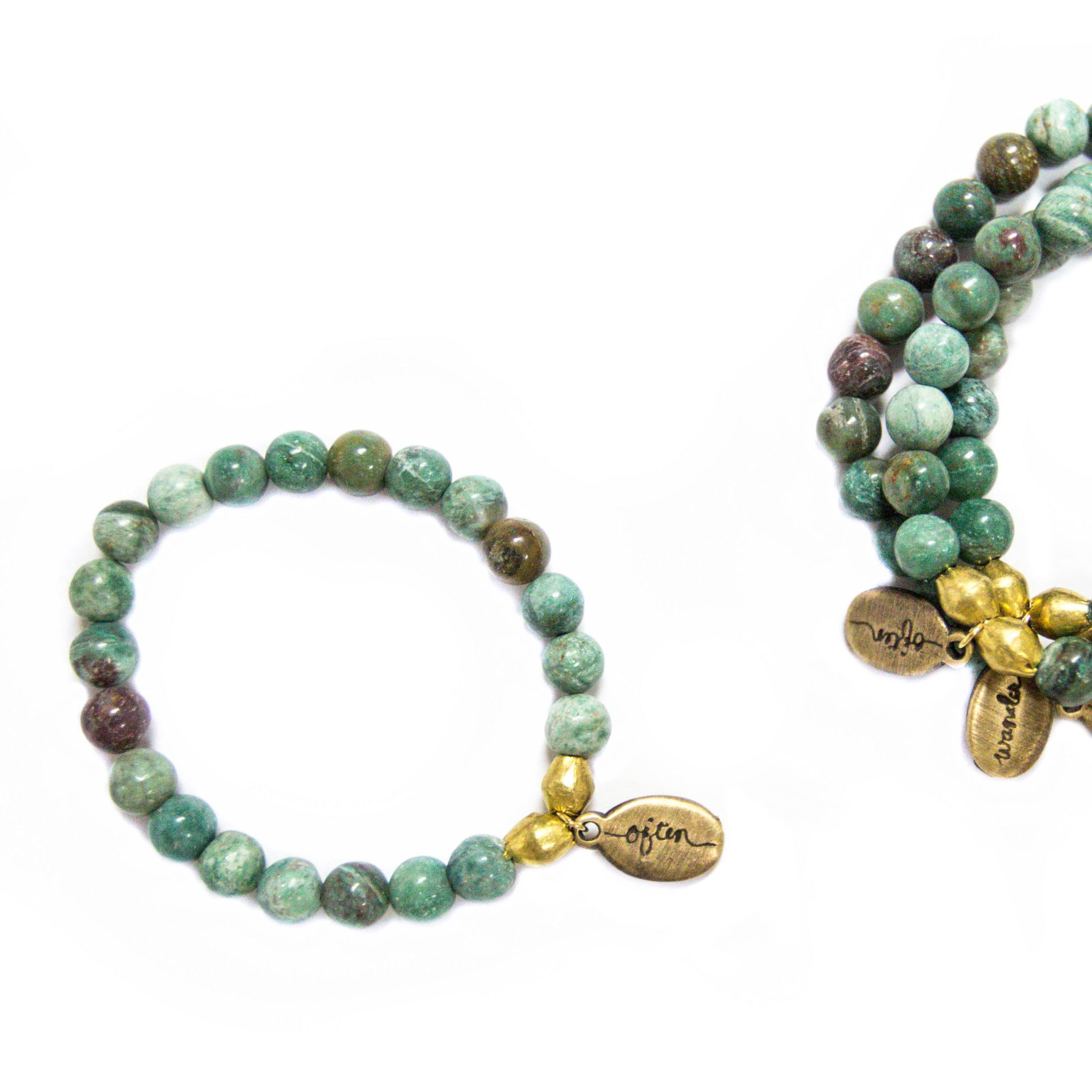 Beaded Bracelet  - Pale Ruby Zoisite