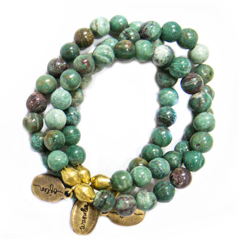 *NEW* Beaded Bracelet  - Apple Green Jade