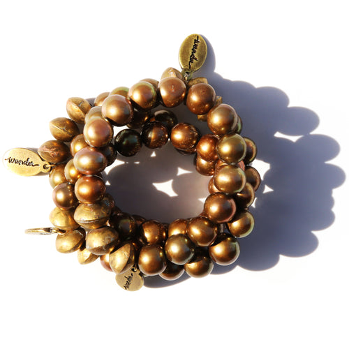 Golden Pearl — Beaded Bracelet