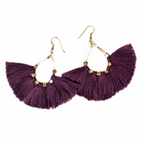 Earrings - Tassel (Navy)