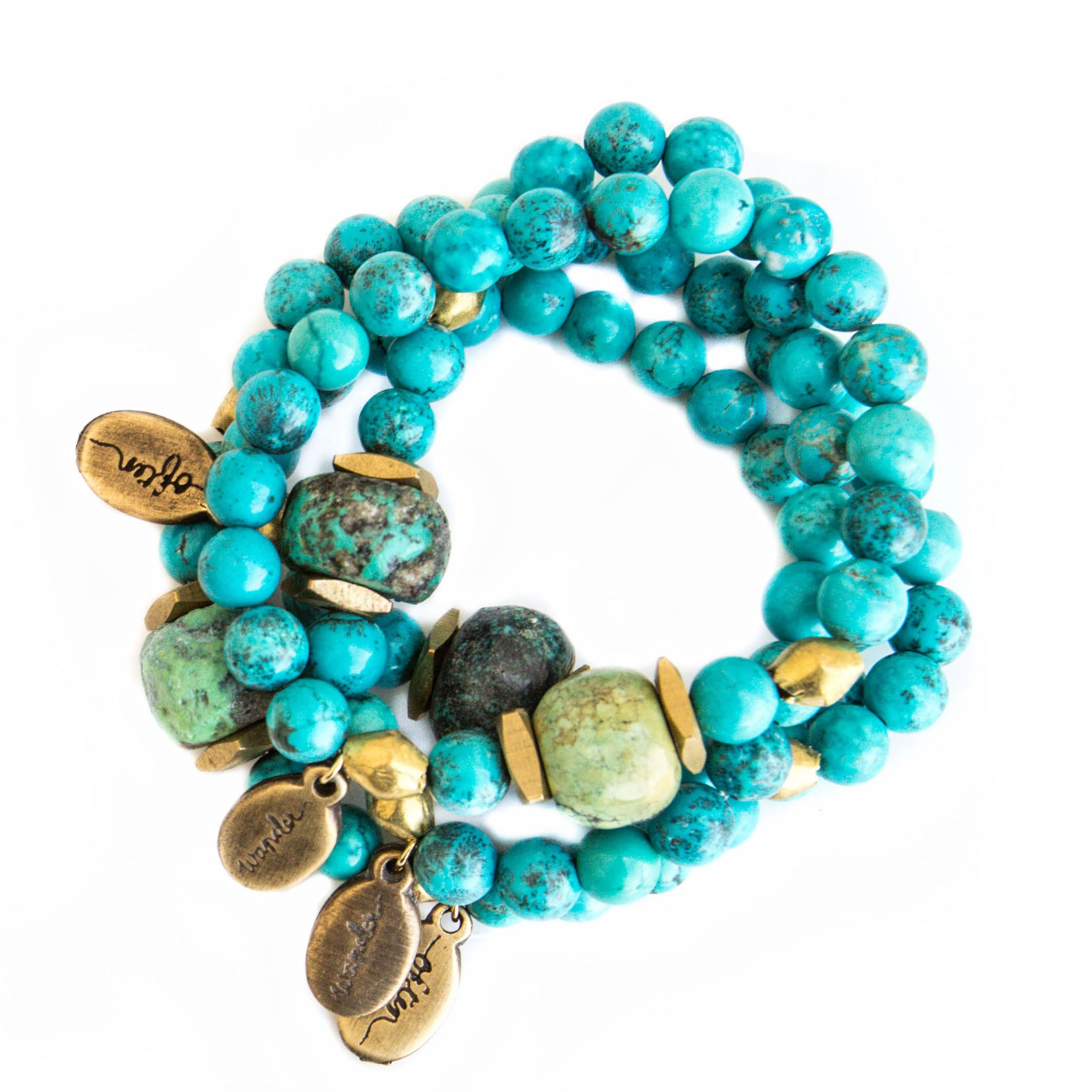 Beaded Bracelet  - Raw Turquoise Howlite