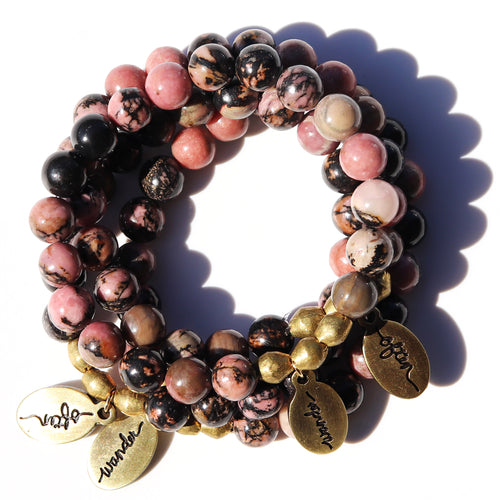 Rhodonite — Beaded Bracelet