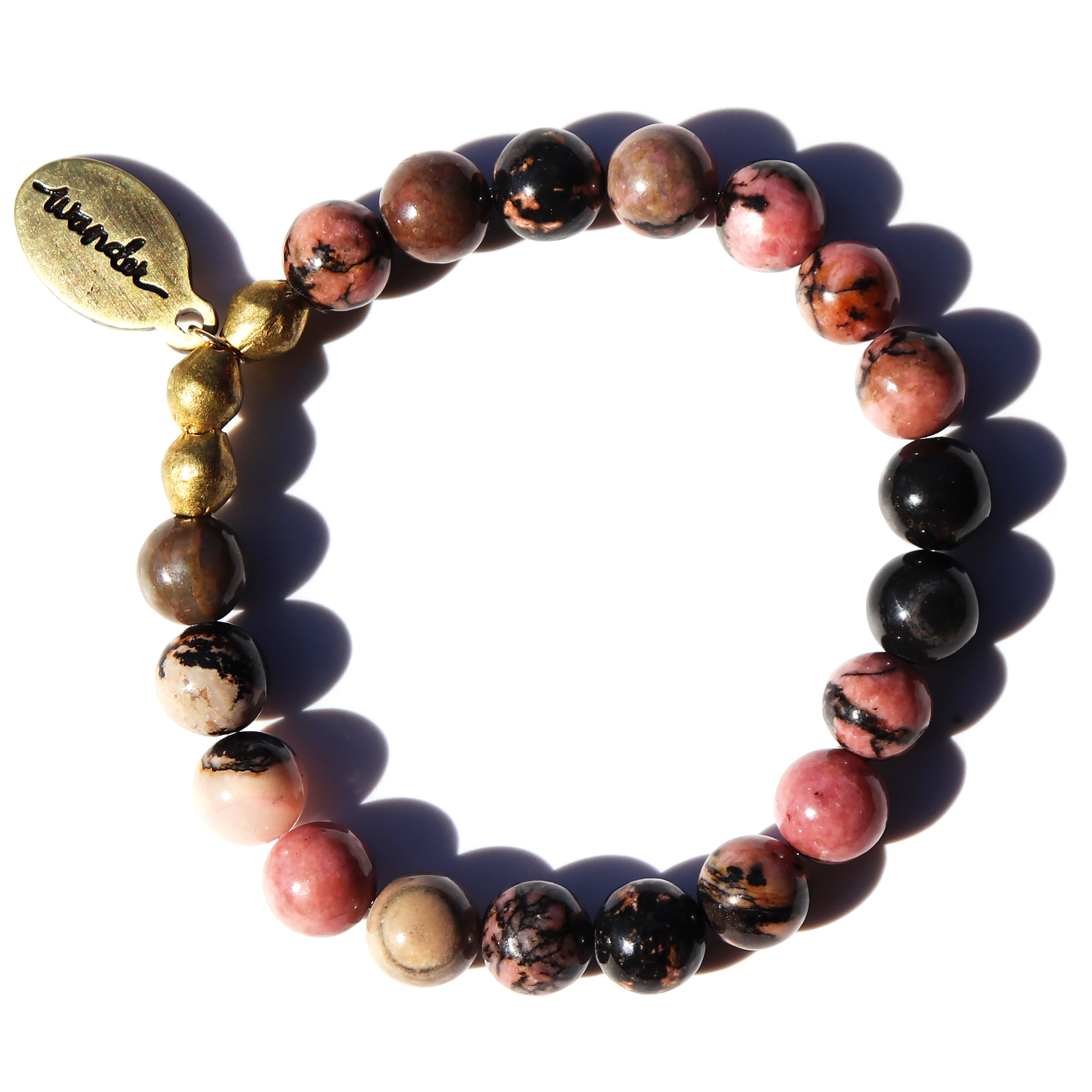 New! Rhodonite — Beaded Bracelet