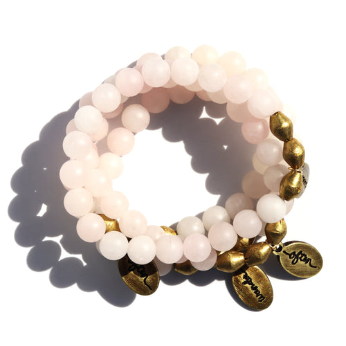 Rose Quartz — Beaded Bracelet