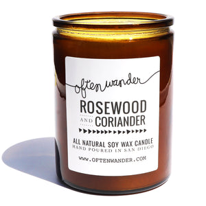 Rosewood and Coriander — Signature Candle