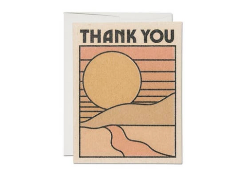 Thank You Sun — Note Card — Red Cap Cards