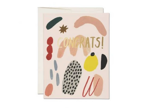 Brushed Congrats — Note Card — Antiquaria