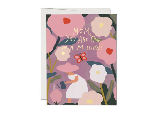 One in a Million Mom — Note Card — Red Cap Cards