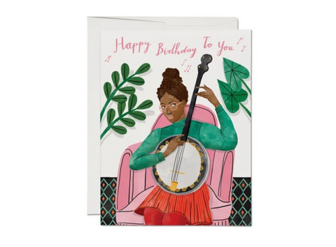 Birthday Suit — Note Card — Red Cap Cards