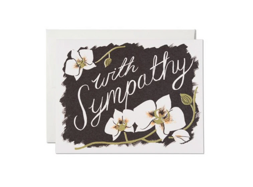 Sympathy Orchids — Note Card — Red Cap Cards
