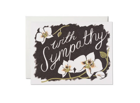 Deepest Sympathy — Note Card — Red Cap Cards