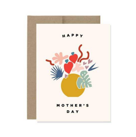 Red Poppy Mother's Day — Note Card — Pen + Pillar
