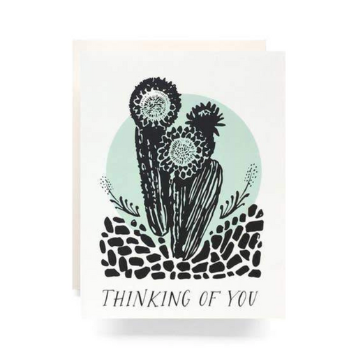 Antiquaria Greeting Card — Cactus Thinking of You