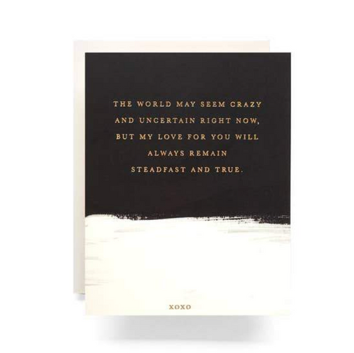 Antiquaria Greeting Card — Brushed Steadfast